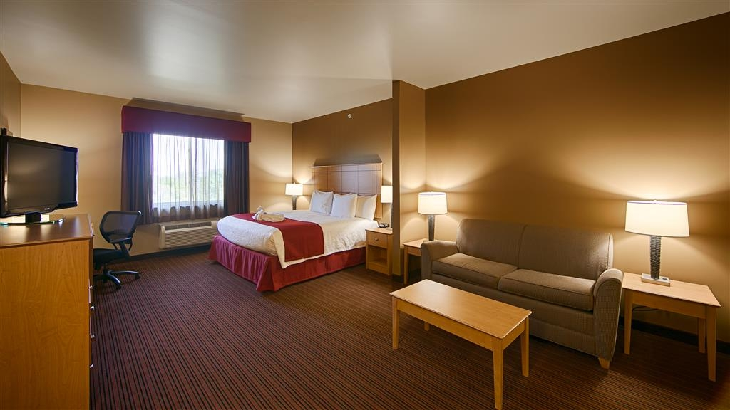 "Best Western Golden Prairie Inn & Suites - Our mini suites, the ""Single King Study"". A great room for someone traveling on business."