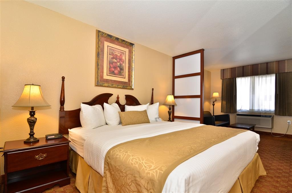 Best Western Fallon Inn & Suites - Mini-suite includes a leather sofa, room dividers, microwave and 42-inch flat screen television.