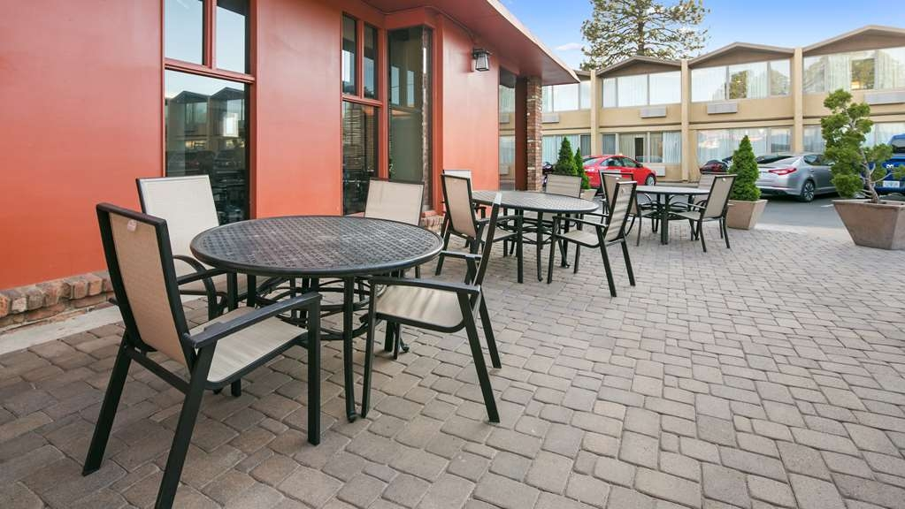 Best Western Pony Soldier Inn & Suites - Poolside Breakfast Patio, great for overflow seating or enjoying the morning Flagstaff weather.