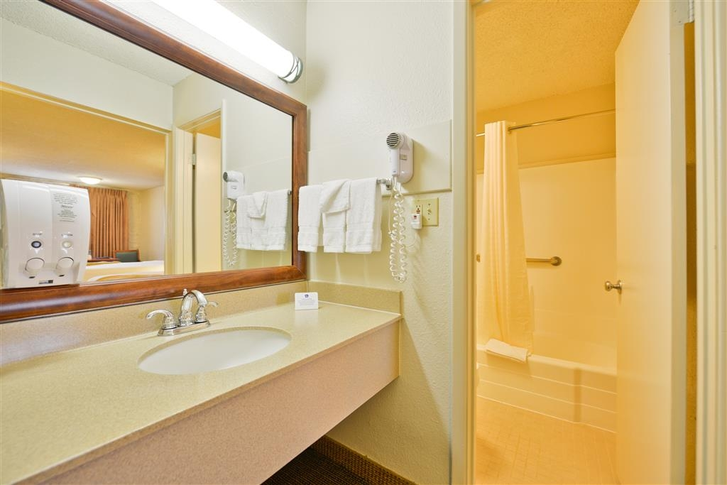 Best Western Airport Inn - Vanity and bathroom.