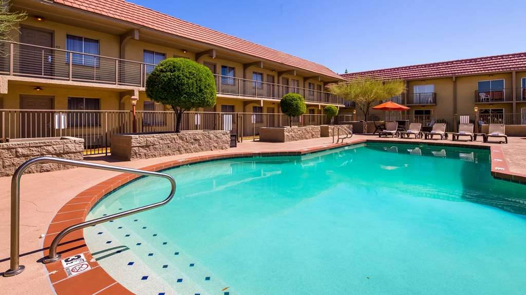 "Best Western Airport Inn - Relax and enjoy our refreshing outdoor pool while soaking in the Arizona sun! Sleep and Fly Rates in our ""SEE MORE RATES"" section."