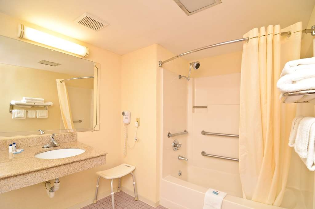 Best Western Princeton Manor Inn & Suites - Our ADA mobility accessible bathrooms feature grab bars and a portable bench.