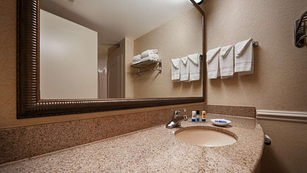 Best Western Riverview Inn & Suites - All guest bathrooms have a large vanity with plenty of room to unpack the necessities.