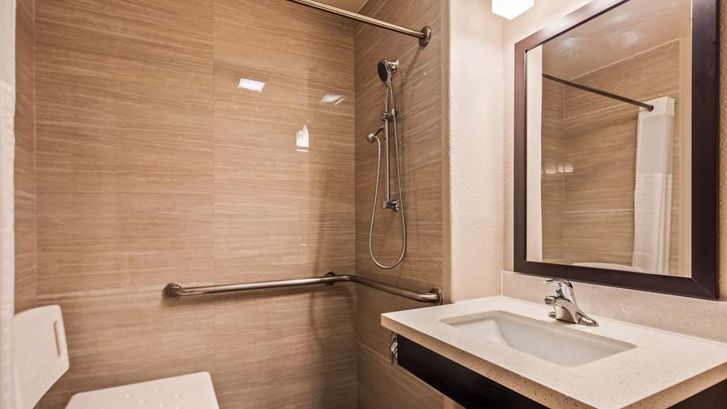 Best Western North Phoenix Hotel - Accessible Guest Bathroom with walk-in shower