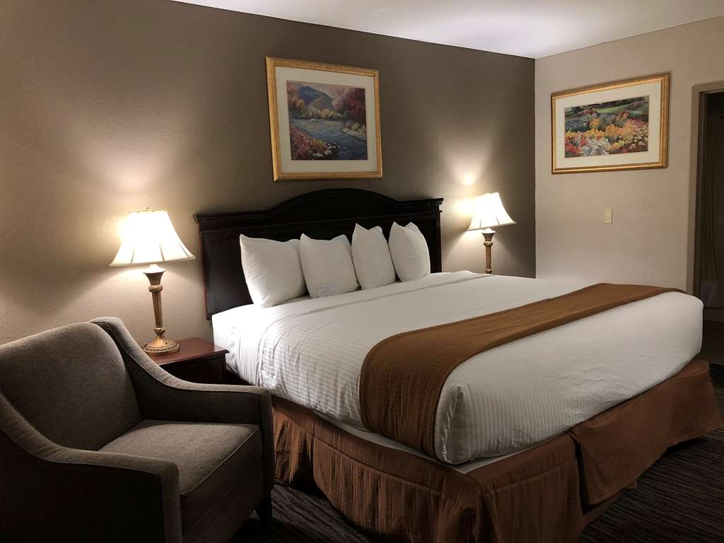 Best Western Gateway Adirondack Inn - Our King bed room.Enjoy comfortable and spacious accommodations and our 32-inch flat panel TV.