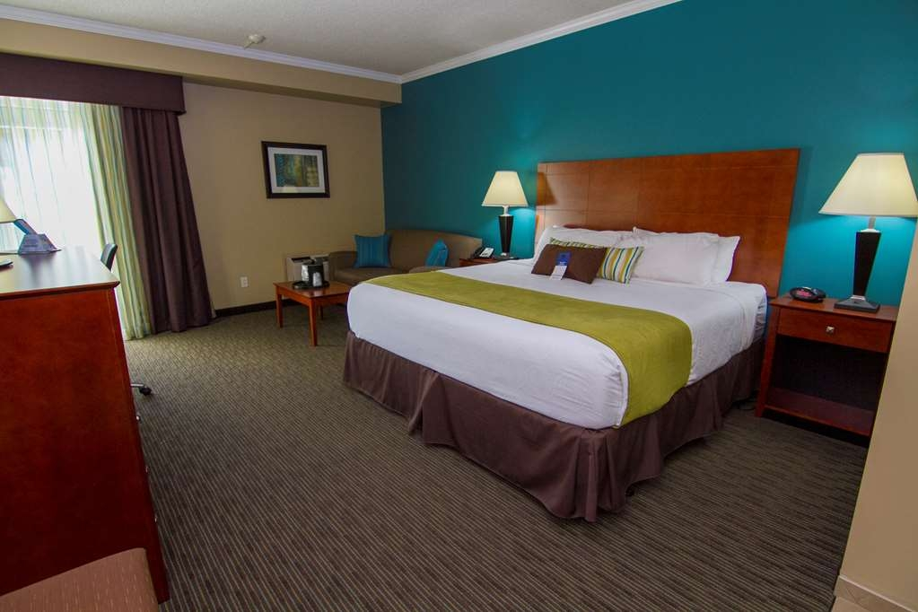 Best Western Plus Plattsburgh - Room to relax and enjoy in our king bedded rooms that even offer a pull-out love seat sofa.