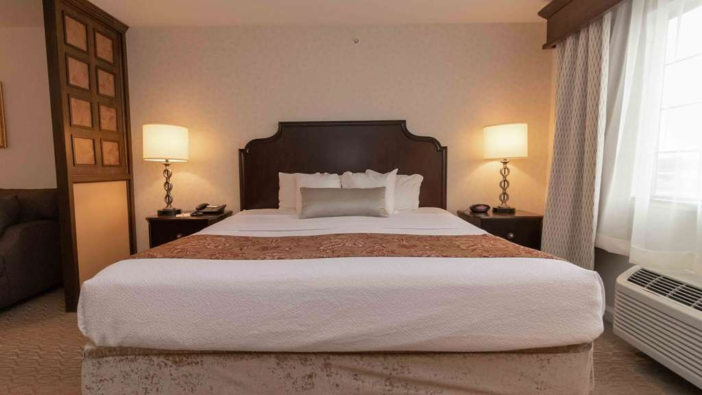 Best Western Plus Vineyard Inn & Suites - These spacious rooms feature a king-sized bed, lounge chair, and workstation and walk-in tiled shower.