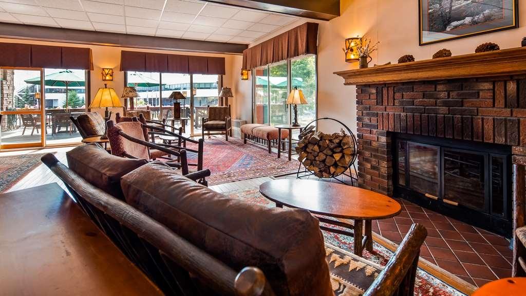 Best Western Adirondack Inn - Lobby Fireplace