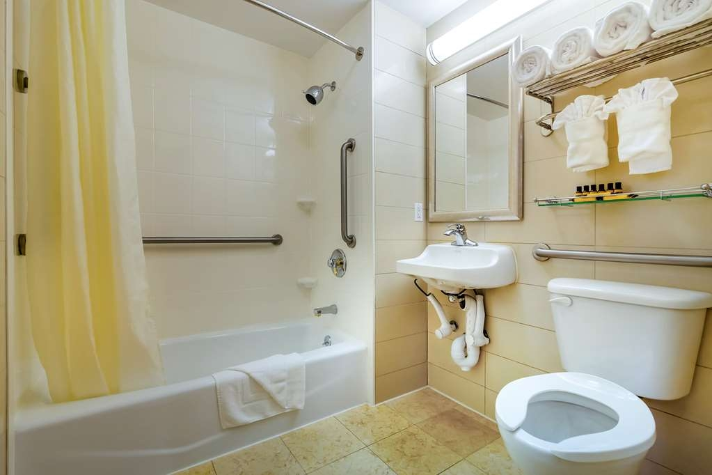 Best Western Plus Plaza Hotel - We designed our mobility accessible bathroom for easy access.