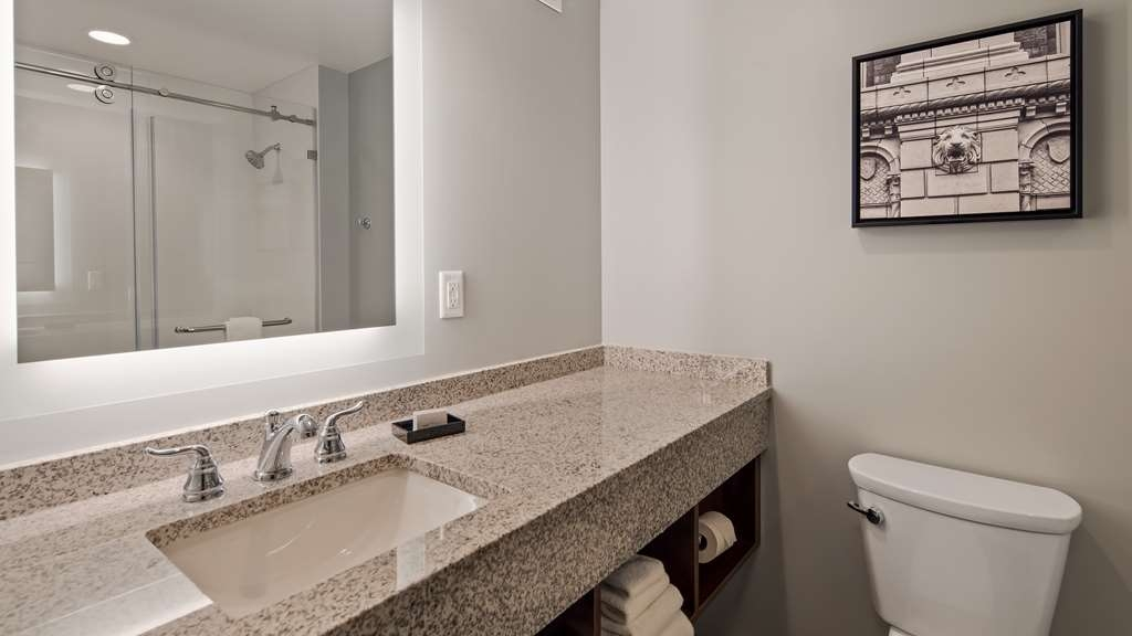 Best Western Plus Franklin Square Inn Troy/Albany - Deluxe Guest Bathroom