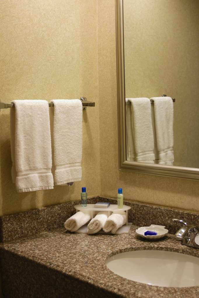 Best Western Plus Galleria Inn & Suites - Our Deluxe Kings have a walk in shower to make your routine go smoothly.