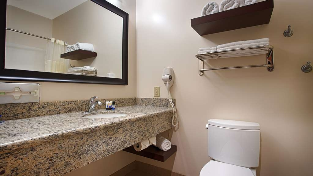 Best Western Plus Finger Lakes Inn & Suites - All guest bathrooms have a large vanity with plenty of room to unpack the necessities.