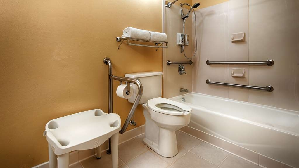 Best Western Bryson Inn - We designed our ADA mobility accessible bathrooms to make our guest feel more comfortable.