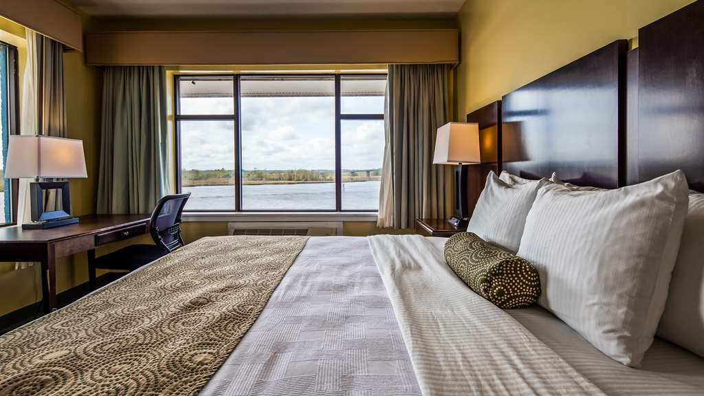 Best Western Plus Coastline Inn - King room overlooking the Cape Fear River.