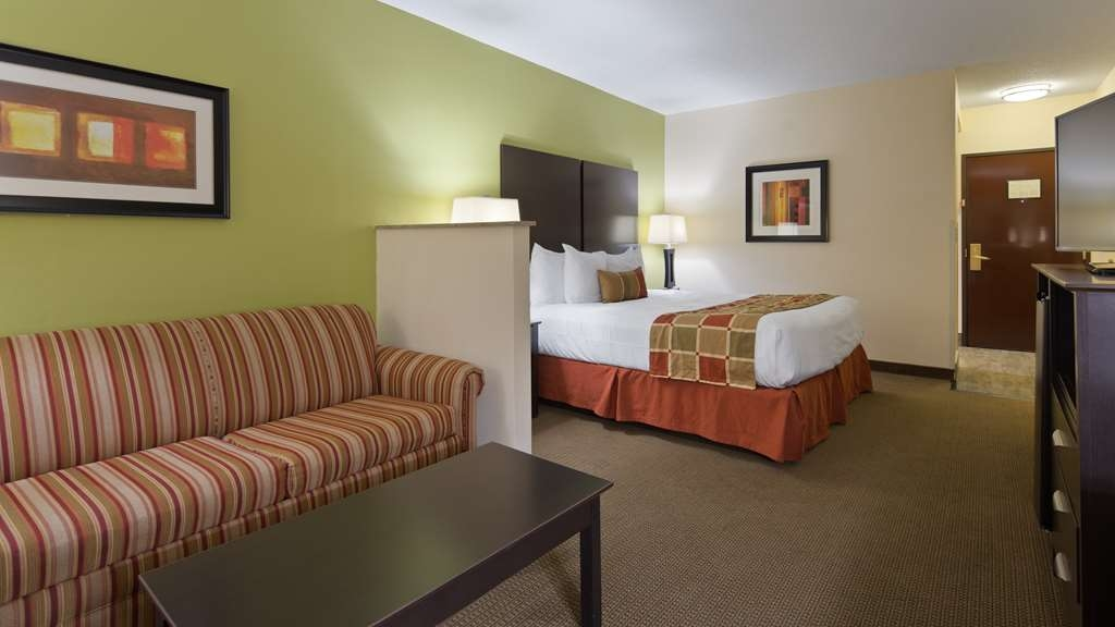 Best Western Plus Huntersville Inn & Suites Near Lake Norman - This suite king guest room is perfect for a layover, extended stay or weekend getaway.