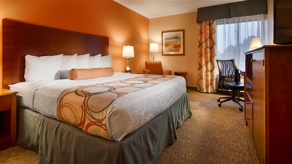 Best Western Plus Wilmington/Wrightsville Beach - Guests in Wilmington on business love our spacious King Rooms in which to relax in and get work done.