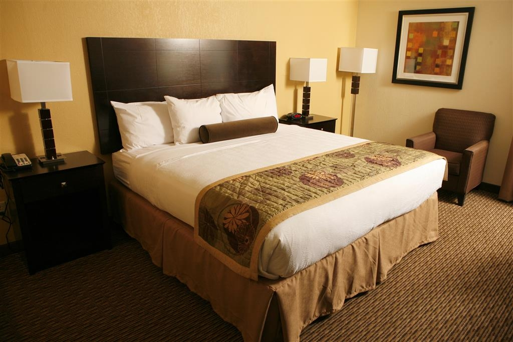 Best Western Plus Goldsboro - Relax in our mobility accessible king guest room.