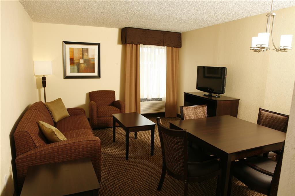Best Western Plus Goldsboro - Unwind on a comfortable sofa while listening to the news!