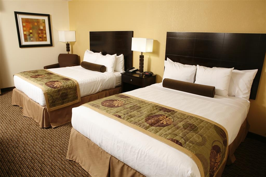 Best Western Plus Goldsboro - Your needs are met in our mobility accessible double queen guest room!
