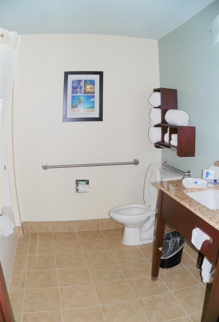 Best Western Plus Elizabeth City Inn & Suites - Cuarto de baño con acceso para huéspedes con limitaciones físicas.