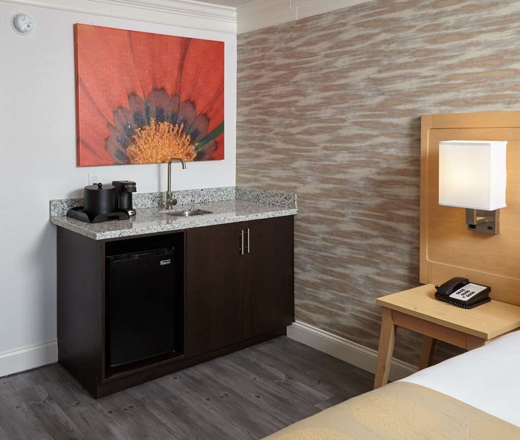 Best Western Plus University Inn - Kitchenette with Sink, Mini-Refrigerator, Prep Area and Coffee/Tea Maker