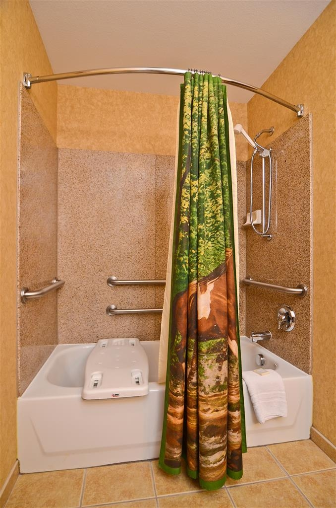 Best Western Plus Kelly Inn & Suites - The bathroom in our king mobility accessible guest room handles all of your needs!