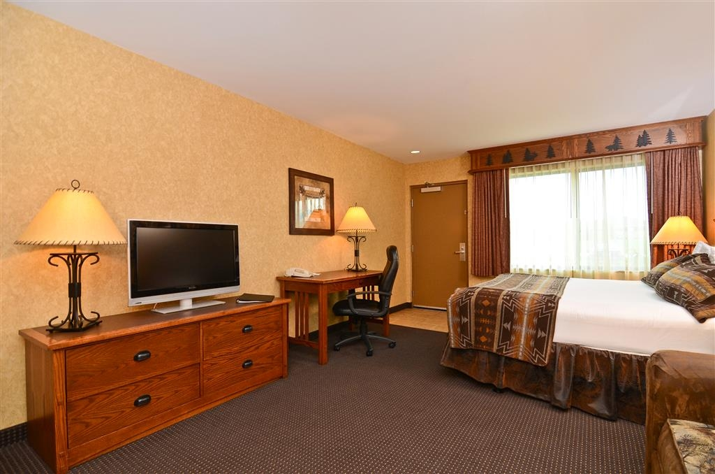 Best Western Plus Kelly Inn & Suites - You can also enjoy our flat screen television to view channels at your leisure!