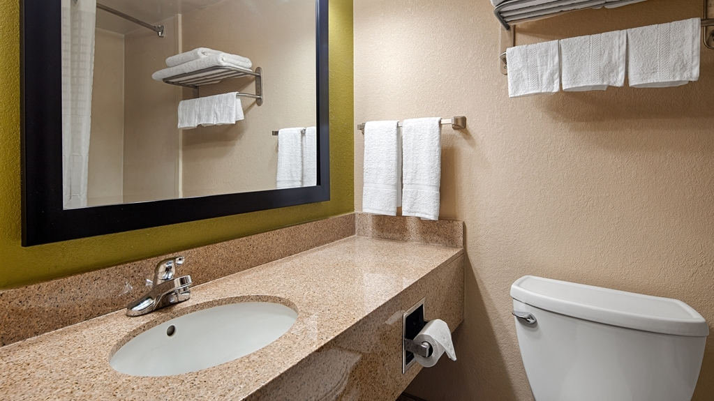 Best Western Adena Inn - All guest bathrooms have a large vanity with plenty of room to unpack the necessities.