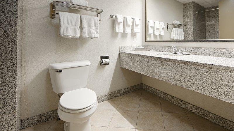 Best Western Plus Sandusky Hotel & Suites - All guest bathrooms have a large vanity with plenty of room to unpack the necessities.