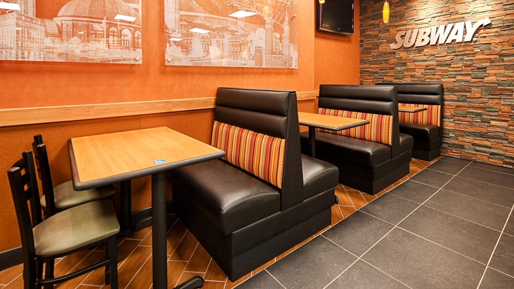 Best Western Airport - Our on-site Subway Restaurant is open 7 days a week from 9am-9pm.