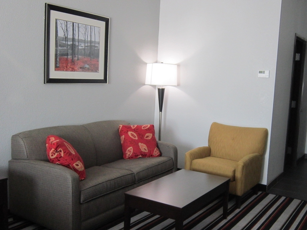 Best Western Plus Coweta's 1st Hotel - Spend some time after a hectic day in the living room featured in our suites.