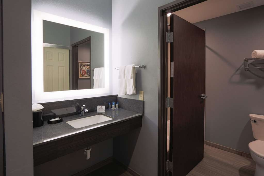 Best Western Plus Wewoka Inn & Suites - All guest bathrooms have a large vanity with plenty of room to unpack the necessities.