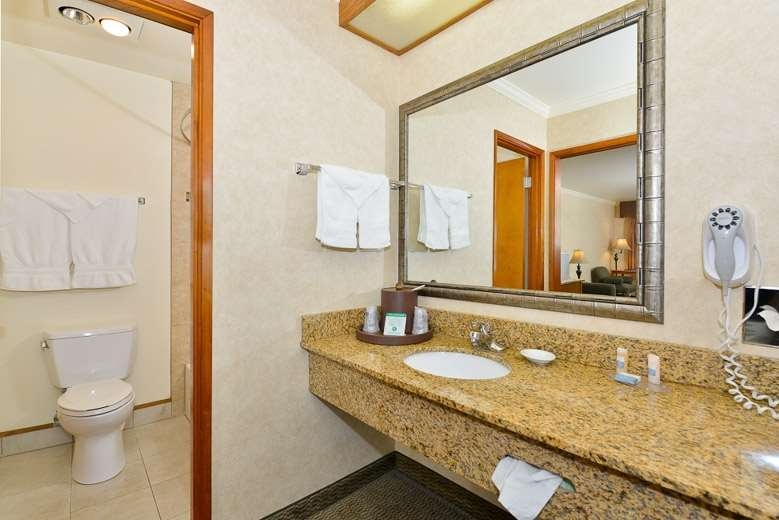 Best Western Holiday Hotel - All guest rooms have a large vanity with plenty of room to unpack the necessities.