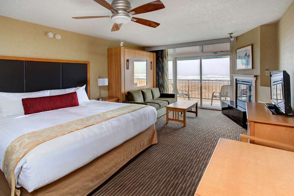 Best Western Plus Ocean View Resort - Our Ocean View King & Queen rooms feature one king pillow top bed and living room area including a pull down wall bed.