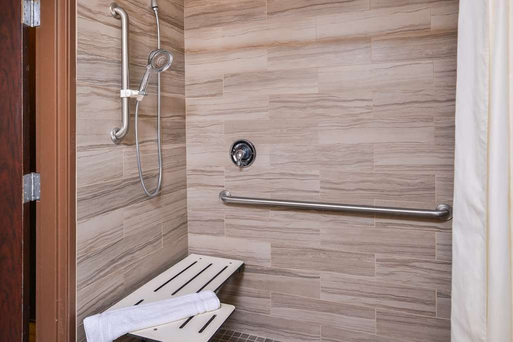 Best Western Plus Rama Inn - Mobility Accessible Shower Two Queen Bathroom