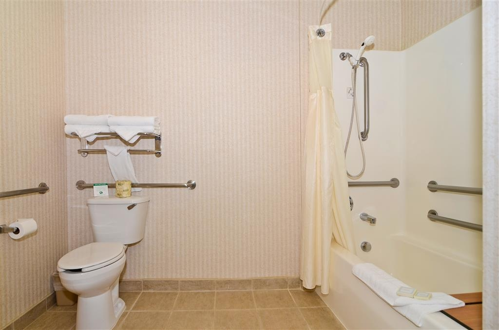 Best Western Oak Meadows Inn - Bagno della camera, accessibile con sedia a rotelle