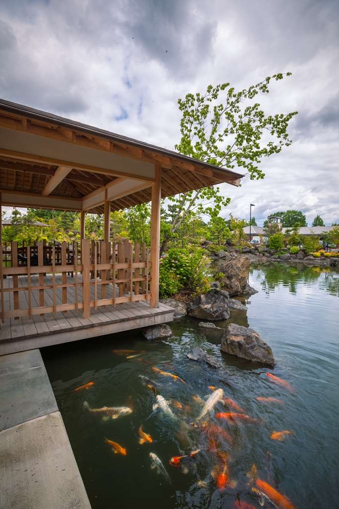 Best Western Premier Boulder Falls Inn - Wander through our one acre garden with 6,000+ square feet of walking trails, waterfalls and beautiful hand carved gazebos surrounding our koi pond.