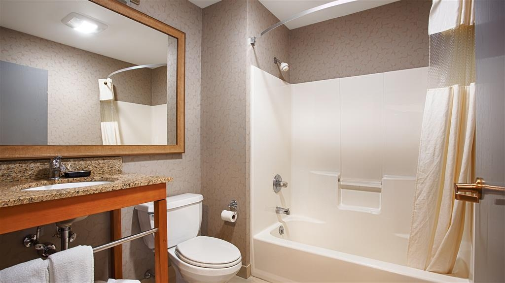 Best Western Inn & Conference Center - Enjoy getting ready for a day of adventure in this fully equipped guest bathroom.