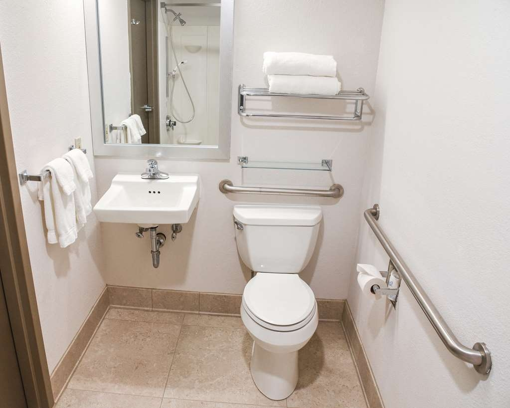 Best Western Lock Haven - Our king, non smoking, room offers a coffee pot, iron, ironing board, hairdryer, free WIFI and cable with HBO. This room offers grab bars in the shower and at the toilet. Our king room also offer a large desk for your convenience.