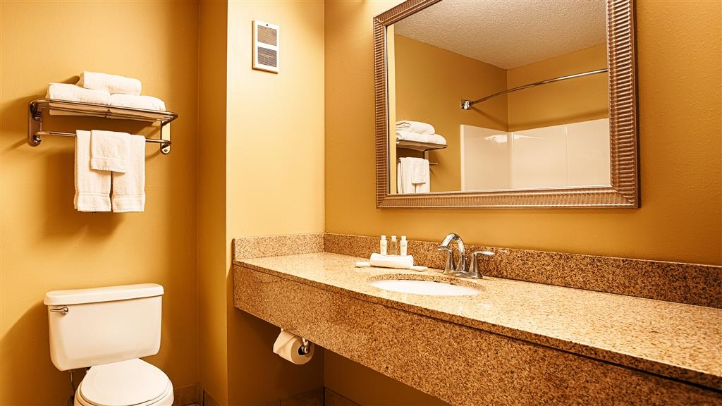 Best Western Plus Executive Inn - All guest bathrooms have a large vanity with plenty of room to unpack the necessities.