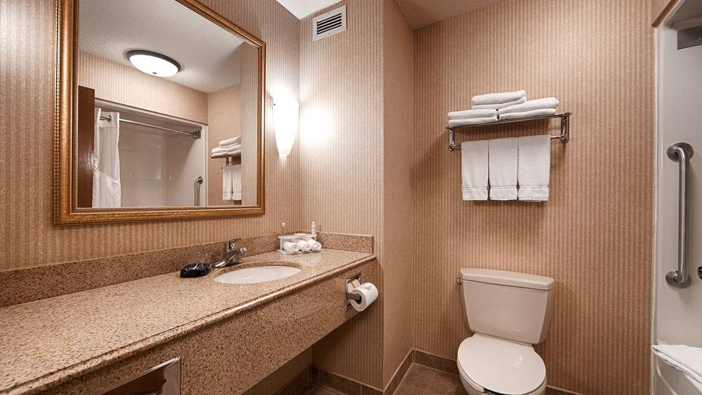 Best Western Plus Clearfield - Enjoy getting ready for the day in this fully equipped guest bathroom.
