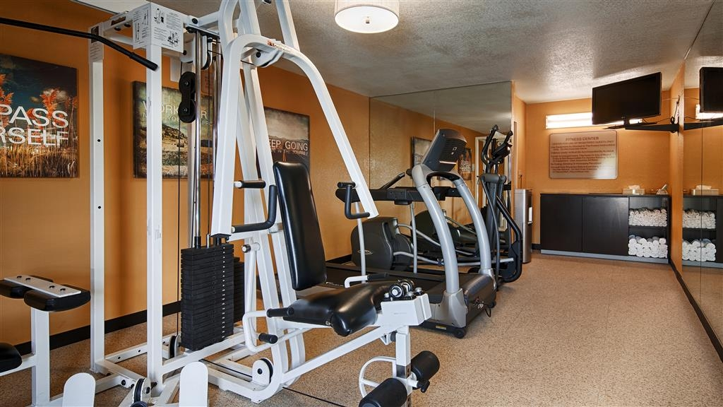 Best Western Inn - Stay active in our fitness center featuring an elliptical, treadmill and 3-in-1 strength machine.