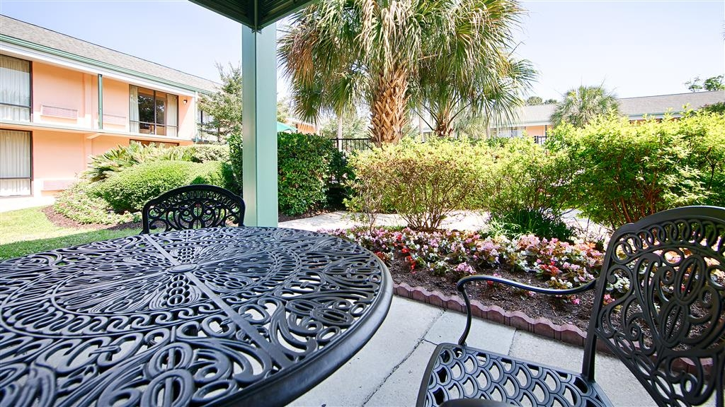 Best Western Charleston Inn - Enjoy a moment of solitude on our outdoor public patio.
