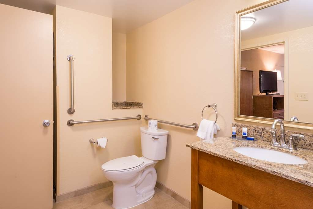Best Western Charleston Inn - The bathroom in this mobility accessible room features a roll-in shower.