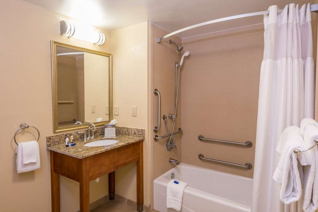Best Western Charleston Inn - Our standard mobility accessible bathroom features a standard tub.