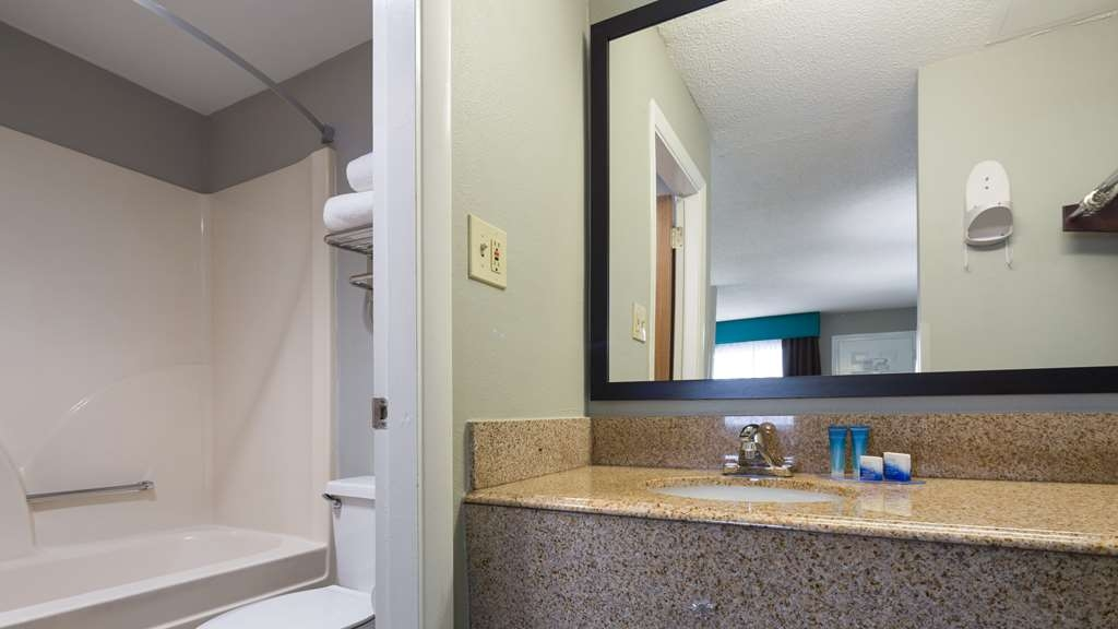 Best Western Inn - All guest bathrooms have a large vanity with plenty of room to unpack the necessities.