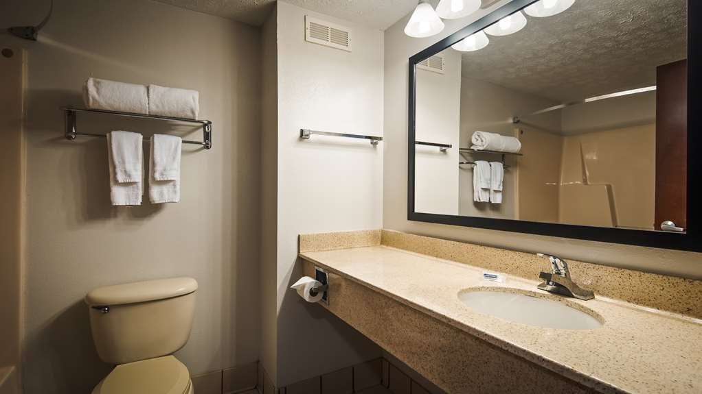 Best Western Magnolia Inn and Suites - All guest bathrooms have a large vanity with plenty of room to unpack the necessities.