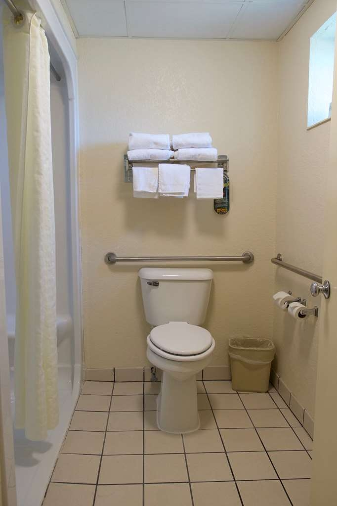 Best Western Thunderbird Motel - This King ADA mobility room has a roll in shower for your convenience.