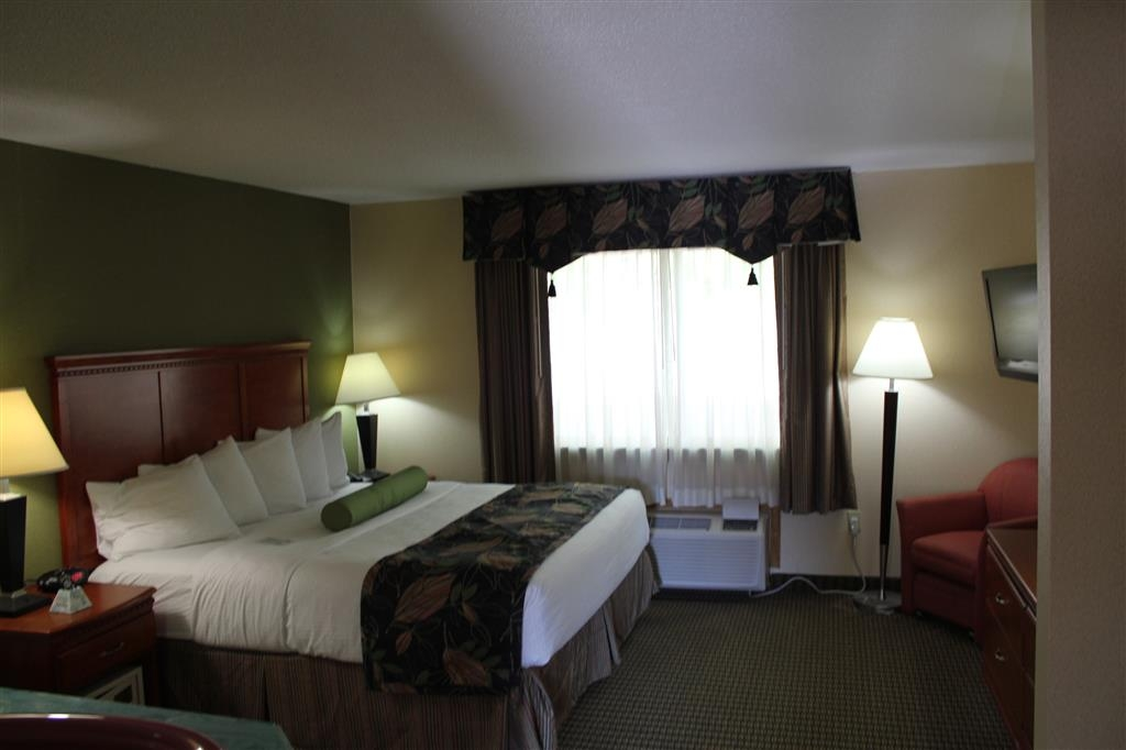 Best Western Celebration Inn & Suites - Our king suite features a separate bedroom with a king size bed, and a full size sofabed in the separate living room
