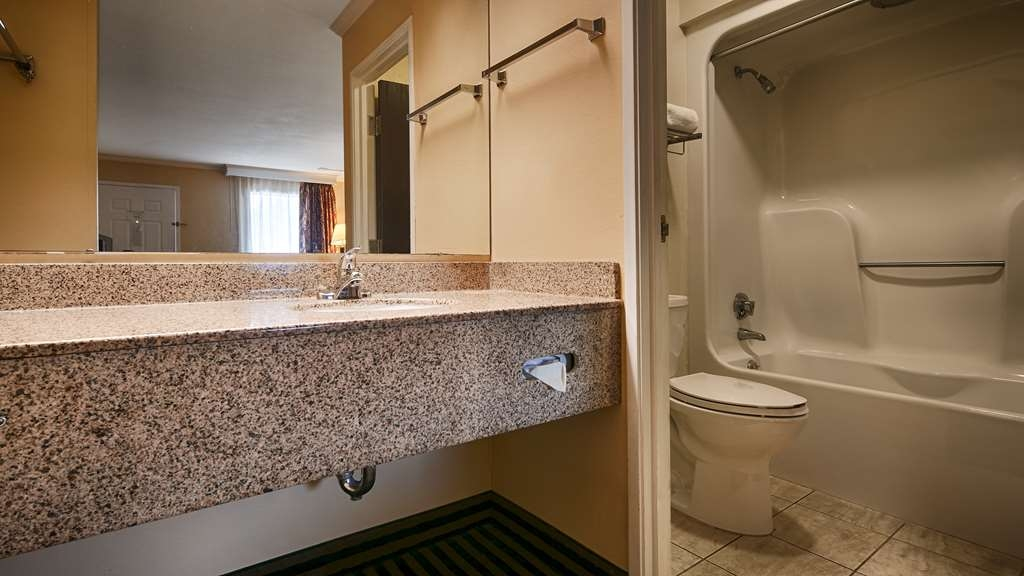 Best Western McKenzie - This is a view of our guest bathrooms that is not mobility accessible.